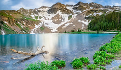 Hidden View at Blue Lakes (tlwecker) Tags: reflection blue mountains landscape mountain telluride lakes hiking colorado panorama water canon longexposure 1635 ridgeway