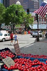 First and Last (AntyDiluvian) Tags: boston massachusetts market haymarket streetmarket fruit vegetables produce tomatoes strawberries faneuilhall quincymarket faneuilhallmarketplace