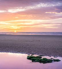 Moment of Peace (philiplivesey) Tags: beech irishsea newbrighton peaceful rocks sea sun sunset warm wallasey england unitedkingdom gb