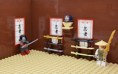Katana's collection (Alex THELEGOFAN) Tags: lego legography minifigure minifigures minifig minifigurine minifigs minifigurines china town dojo training sword katana japan ninja master temple tan brown dc comics super heroes suicide squad