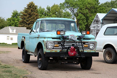 Waiting for snow season (twm1340) Tags: ford f100 pickup truck june 2017 rv motorhome trip petersburg ne nebraska boone county