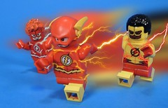 Flash Family (MrKjito) Tags: lego minifig custom flash waterslide decal speed force barry allen kid wally west titans teen super hero comic comics race family rebirth dc