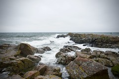 Stormy water (frankps) Tags: bornholm nordlandet allinge sandvig sea beaches rocks holidays travel