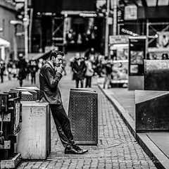 Music and a Cigarette (Mario Rasso) Tags: mariorasso nikon d810 newyork wallstreet manhattan street man urban usa