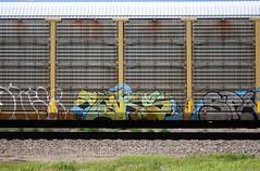 Tars (quiet-silence) Tags: graffiti graff freight fr8 train railroad railcar art tars aa aacrew autorack