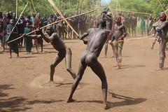 Fighting warriors (martien van asseldonk) Tags: martienvanasseldonk ethiopia surma surmi donga stickfighting