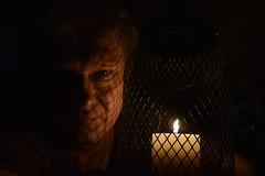 Walk In The Shadows (Kotsikonas Elias) Tags: man candle night portrait nikon d3300 shadow