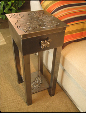 Chicago Custom Steel Furniture & Shiny Metal Objects: Riggo :  silver leaf mirror steel furniture steel art metal furniture