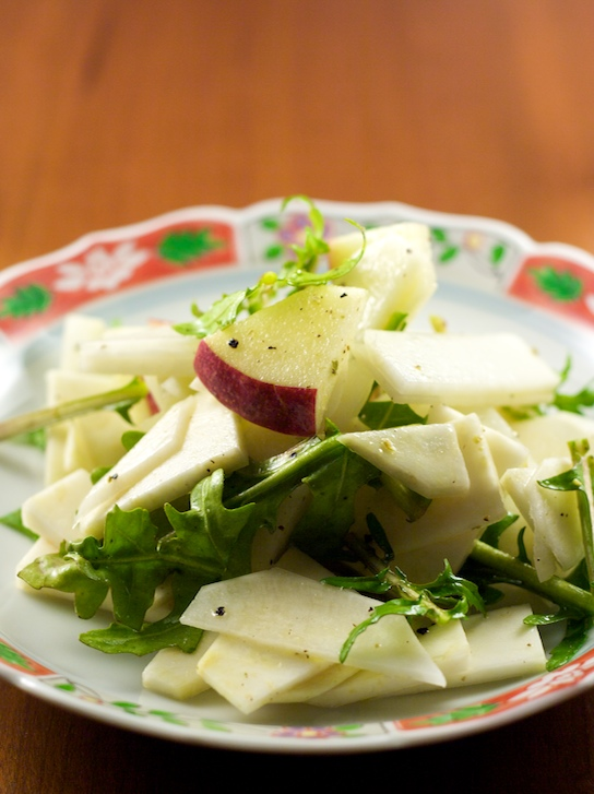 black radish & winesap apple salad