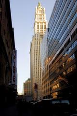 Woolworth Building (mudpig) Tags: nyc newyorkcity newyork reflection skyscraper geotagged cityscape woolworth woolworthbuilding mudpig stevekelley
