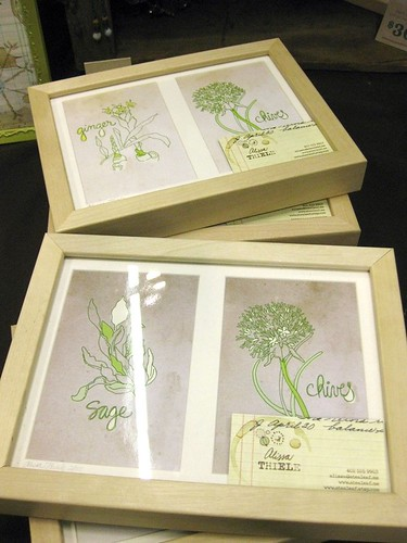 My Herb Drawings in Frames at Super Colossal Holiday Sale