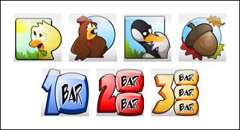 free Chicken Little slot game symbols