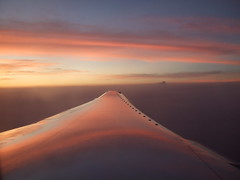 Sunset in flight from Nepal to Thailand (Eric Lon) Tags: nepal mountains flight glacier abc himalayas mbc annapurnas ericlon