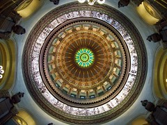 Dome of the Illinois State Capitol (Ray Cunningham) Tags: usa building architecture illinois state united capital capitol american dome government springfield states rotunda legislature staaten tatsunis vereinigten raycunningham zaruka raymondkcunninghamjr