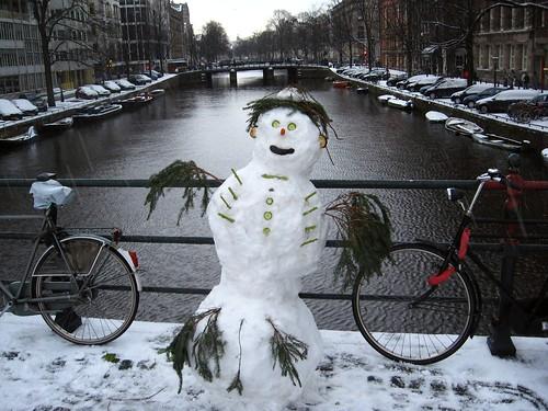 Amsterdam snowman - Boneco de neve Amsterdam