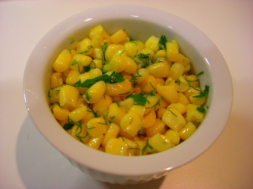corn with fresh herbs