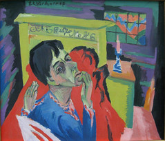 Ernst Ludwig Kirchner Selbstbildnis als Kranker 1918-1 (renzodionigi) Tags: portrait painting design engraving autoritratto ritratto arts fine selfportrait