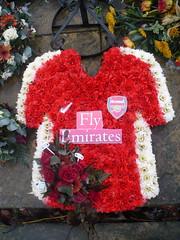 Arsenal fan (London looks) Tags: flowers cemetery funeral lambeth floraltribute graveside