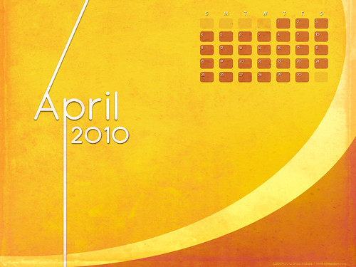 April 2010 Desktop Wallpaper Calendar por m0nkeyxman.