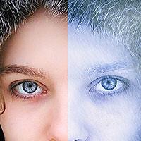 Photoshop Tutorial: Arctic Face Photo Effect