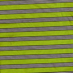 Lime & Black striped cotton lycra knit