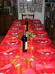 la bellissima tavola imbandita da Valeria