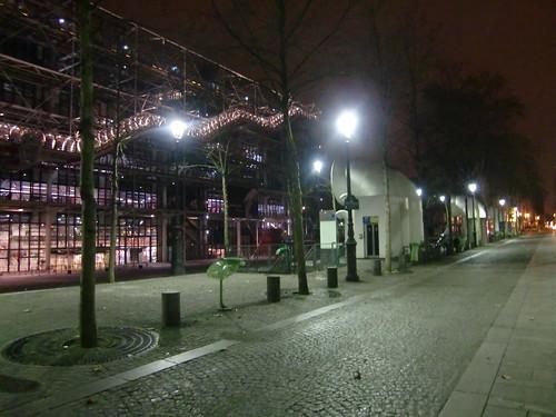 מרכז פומפידו לפנות בוקר
