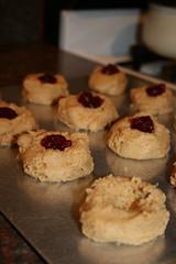 PBJ thumbprint cookies (uncooked)
