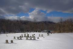 Snow in Cem (moedonno) Tags: cemetery bill rizzo
