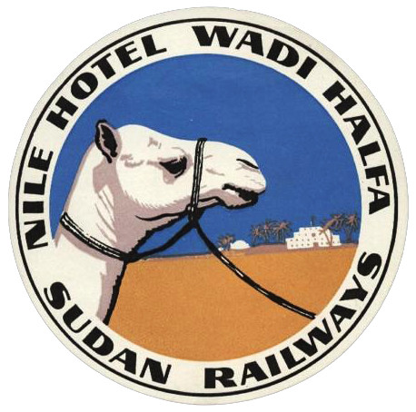 Sudan - Wadi Halfa - Nile Hotel by Luggage Labels by b-effe