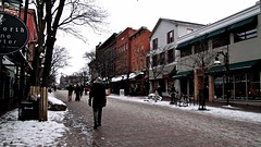 the strip (eva c. meszaros) Tags: trip travel winter vacation snow cold burlington buildings downtown vermont getaway newyearseve storefronts churchstreet newyearsday 2010