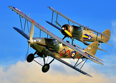 BI-Plane Chase.. (mickb6265) Tags: old bedford fighter collection demon warden shuttleworth 2009 raf hawker biplane gladiator gloster