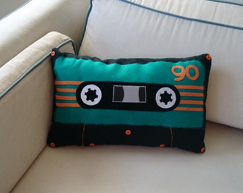 90-minute Teal Cassette Pillow