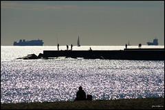 Barcelona's sunday morning winter (Pemisera) Tags: barcelona sea mer beach mar barco ship ombra sombra playa catalonia barceloneta catalunya silueta plage catalua platja catalogna vaixell barcelons catalogne bteau katalonia pemisera