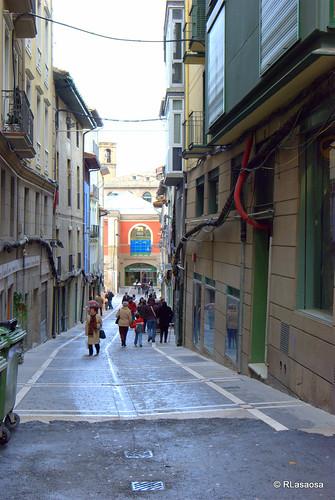 Vista de la calle Mañueta de Pamplona