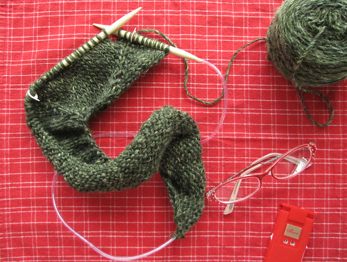 Lion Neck Cardigan in Progress