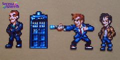 SerenaAzureth_DoctorWho_9th_10th_11th2 (SerenaAzureth) Tags: david matt who dr christopher sprite smith doctor bead 10th 11th tardis 9th hama perler tennant eccleston tenth eleventh nineth serenaazureth