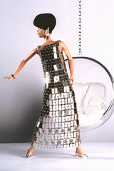 Peggy Moffitt (Flint :o)) Tags: fashion 60s ooak barbie hautecouture fashiondoll mattel custommade pacorabanne vidalsassoon designerdoll repaint reroot eeroaarnio bubblechair peggymoffitt metaldress