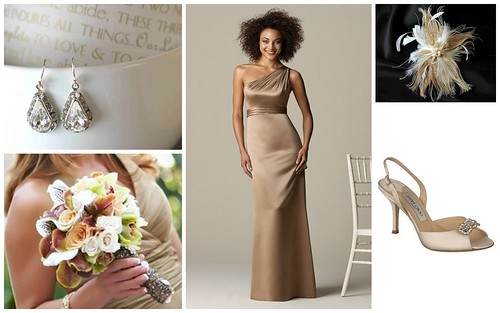 Keywords Winter wedding color theme champagn Jimmy Choo Shoes