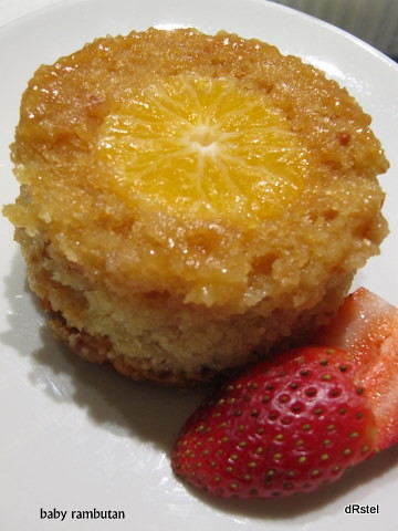 unmolded clementine pudding