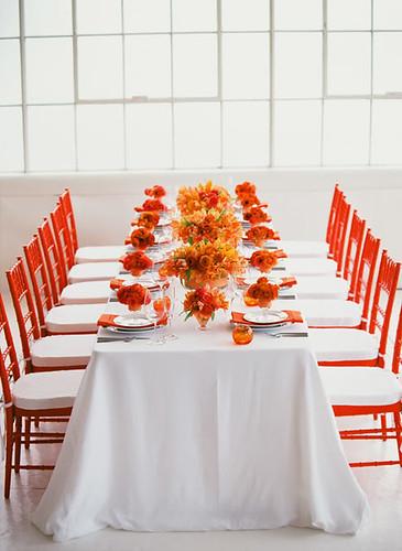 4271922959 c5acd722cd Baú de ideias: Decoração de casamento laranja