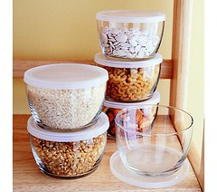 Pint Glass Storage Bowls - courtesy of Crate & Barrel web site