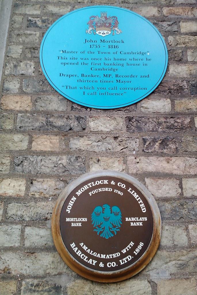 Photo of John Mortlock blue plaque