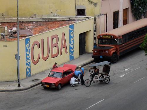 Cuba wall art, Havana street scene by redpop creative.