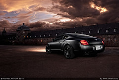 Bentley Continental GT (Michael Kavena) Tags: auto black cars car canon matt flat dusk flash transport hell continental automotive autos gt bentley strobe worldofcars kavena