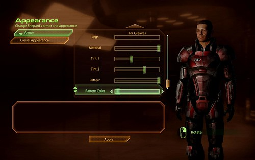 Mass Effect 2 - Armor customization