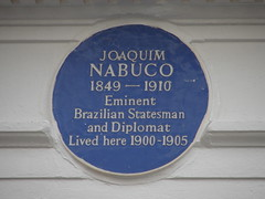 Photo of Joaquim Nabuco blue plaque