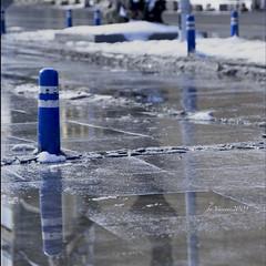 ice to water (EG documentary photography) Tags: blue winter ice wet reflections pavement rs blueribbonwinner otw mywinners abigfave platinumphoto ysplix newacademy goldstaraward