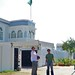 Outside the Brazilian Embassy