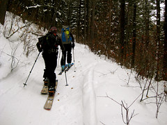 Skinning up New World Gulch to Mt Ellis Photo